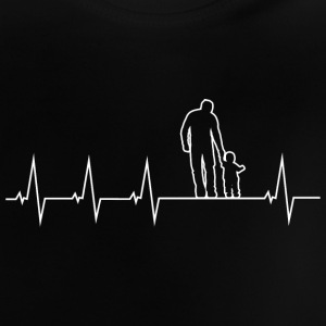 Vader en zoon - heartbeat Baby shirts - Baby T-shirt