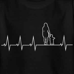 Mother and son - heartbeat Shirts - Teenage T-shirt