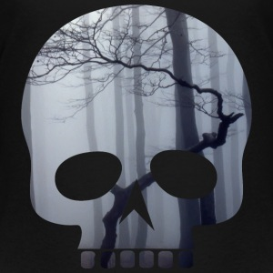 Totenkopf mit Nebelwald / Skull with fog T-Shirts - Teenager Premium T-Shirt