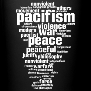 pacifism (peace not war) Mugs & Drinkware - Full Colour Mug