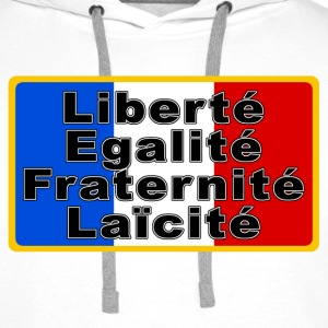 France Drapeau et devise Sweat-shirts - Sweat-shirt à capuche Premium pour hommes