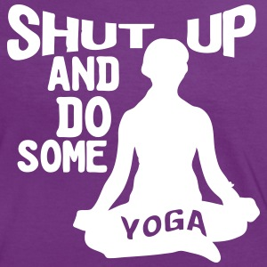 Shut up and do some Yoga - Frauen Kontrast-T-Shirt