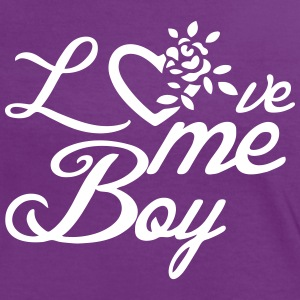 Love me, Boy - Frauen Kontrast-T-Shirt