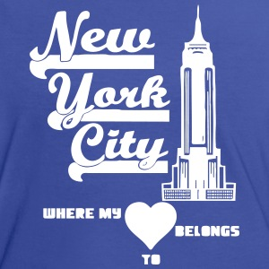 New York City Heart - Frauen Kontrast-T-Shirt