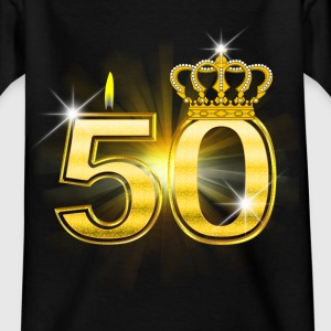 50 - Birthday - Queen - Gold T-Shirts - Teenager T-Shirt