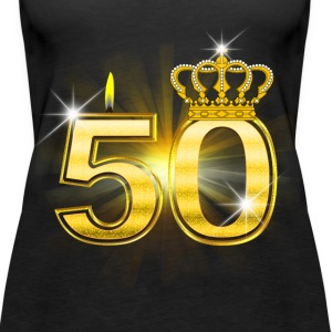 50 - Birthday - Queen - Gold Top - Canotta premium da donna