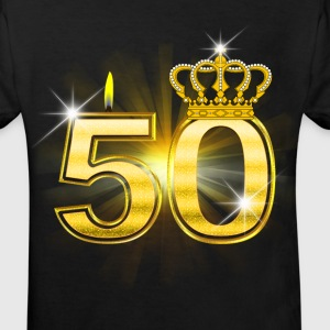 50 - Birthday - Queen - Gold Camisetas - Camiseta ecológica niño