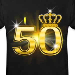 50 - Birthday - Queen - Gold Tee shirts - T-shirt Bio Enfant