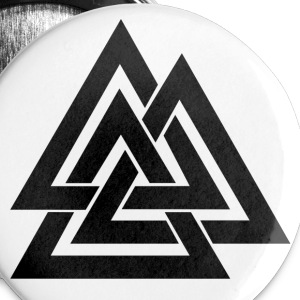 Valknut Button - Buttons groß 56 mm