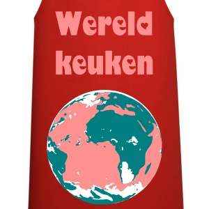 Rood world Kookschorten - Keukenschort