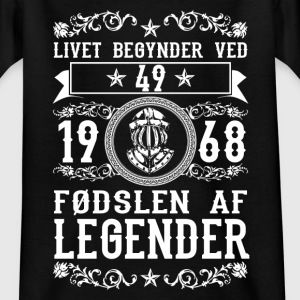 1968 - 49 ar - Legender - 2017 - DK Shirts - Teenage T-shirt