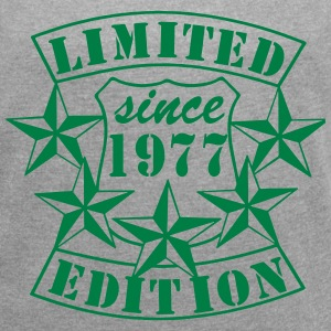 1977 , Limited Edition T-Shirts - Frauen T-Shirt mit gerollten Ärmeln
