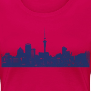 Auckland New Zealand Neuseeland Skyline City - Frauen Premium T-Shirt