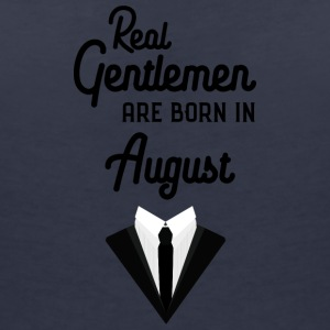 Real Gentlemen are born in August Se652 T-Shirts - Women's V-Neck T-Shirt