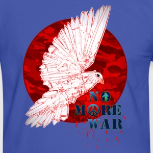No More War Now - Männer Kontrast-T-Shirt