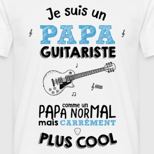Papa guitariste carrément plus cool Tee shirts - T-shirt Homme