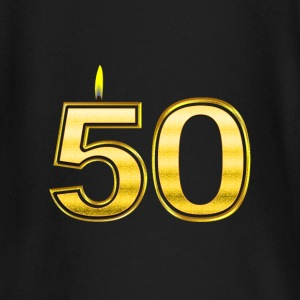 50 - Birthday - Queen - Gold - Flame Camisetas de manga larga bebé - Camiseta manga larga bebé