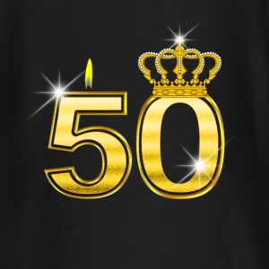 50 - Birthday - Queen - Gold - Flame & Crown baby shirts met lange mouwen - T-shirt