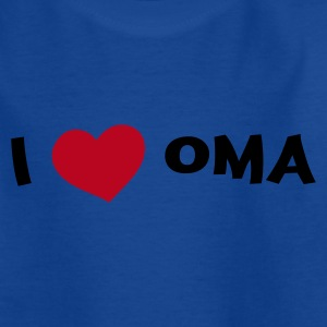 Koningsblauw i_love_oma Kinder shirts - Teenager T-shirt