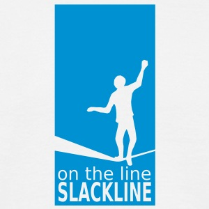 on the line - slackline - Männer T-Shirt