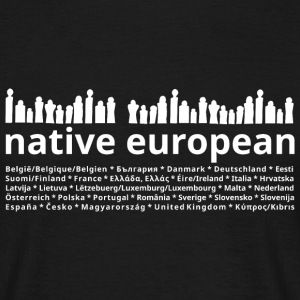 native european people - Männer T-Shirt