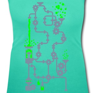Aqua green Distille / distillery (bottom, 2c) Women's T-Shirts - Women's Scoop Neck T-Shirt