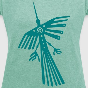 Nazca lines, condor T-Shirts - Women's T-shirt with rolled up sleeves