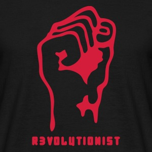 Black faust_revolutionist_1f Men's T-Shirts - Men's T-Shirt