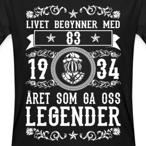 1934 - 83 ar - Legender - 2017 - NO T-Shirts - Men's Organic T-shirt