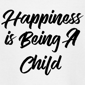 Happiness is being a child T-shirts - Børne-T-shirt