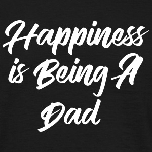 Happiness is being a Dad T-shirts - Herre-T-shirt
