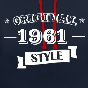 Original 1961 style sweater & hoodies - Contrast Colour Hoodie