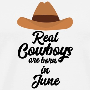 Real Cowboys are bon in June Spld4 T-Shirts - Men's Premium T-Shirt