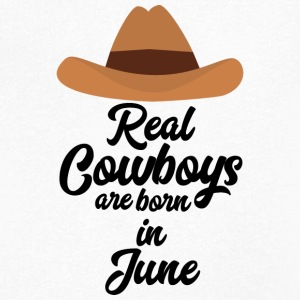 Real Cowboys are bon in June Spld4 T-Shirts - Men's V-Neck T-Shirt