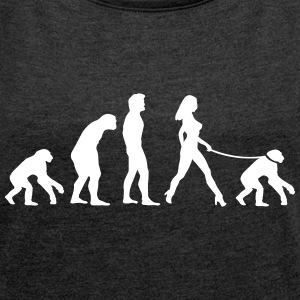 Feminist Theory of Evolution Tee Shirts - Women's T-shirt with rolled up sleeves