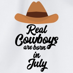 Real Cowboys are bon in July S6xpq Bags & Backpacks - Drawstring Bag