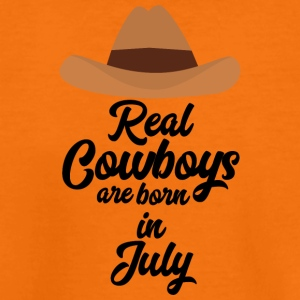 Real Cowboys are bon in July S6xpq Shirts - Teenage Premium T-Shirt