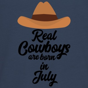 Real Cowboys are bon in July S6xpq Long Sleeve Shirts - Teenagers' Premium Longsleeve Shirt