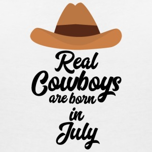 Real Cowboys are bon in July S6xpq T-Shirts - Women's V-Neck T-Shirt