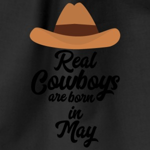 Real Cowboys are bon in May S11vb Bags & Backpacks - Drawstring Bag