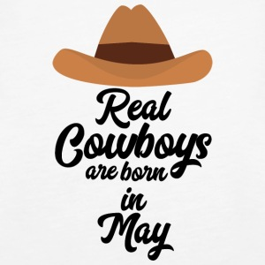 Real Cowboys are bon in May S11vb Tops - Women's Premium Tank Top
