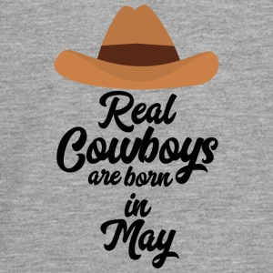 Real Cowboys are bon in May S11vb Long Sleeve Shirts - Teenagers' Premium Longsleeve Shirt