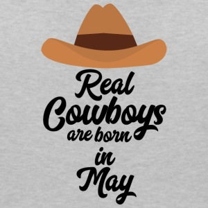 Real Cowboys are bon in May S11vb T-Shirts - Women's V-Neck T-Shirt