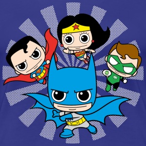 DC Comics Originals  Chibis - Premium-T-shirt dam