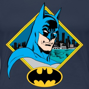 DC Comics Originals Batman Portrait Et Logo - T-shirt Premium Femme