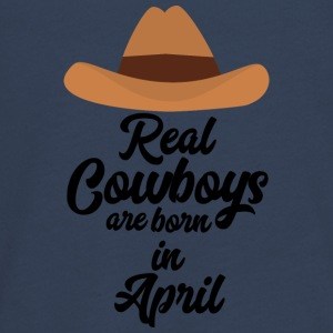 Real Cowboys are bon in April Snkg6 Long Sleeve Shirts - Teenagers' Premium Longsleeve Shirt