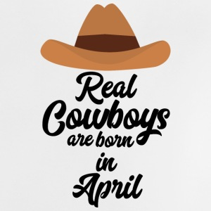 Real Cowboys are bon in April Snkg6 Baby Shirts  - Baby T-Shirt