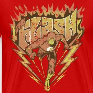 DC Comics Originals The Flash Look Usé - T-shirt Premium Homme