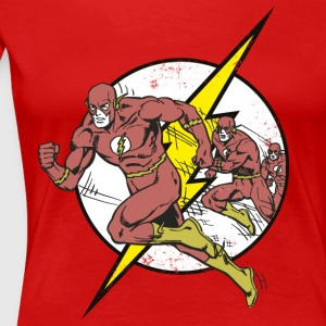 DC Comics Originals The Flash Running - Premium T-skjorte for kvinner