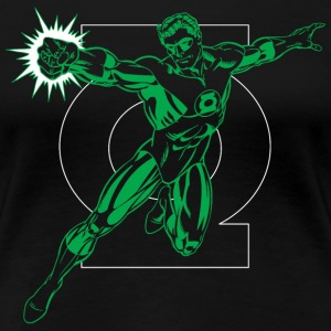 DC Comics Originals Green Lantern Logo - Premium T-skjorte for kvinner